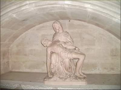 Pieta in L'abbaye de St Antoine, Frankreich